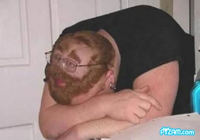Man who passed out and got a face shaved in his hair prank photo