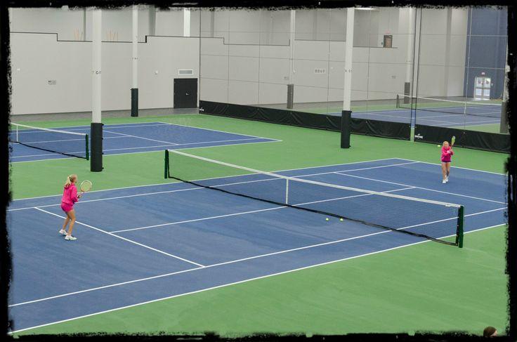 Spooky Nook Sports has 6 indoor tennis courts!