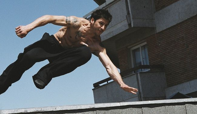 David Belle, parkour in the movie District 13 (Banlieue 13)