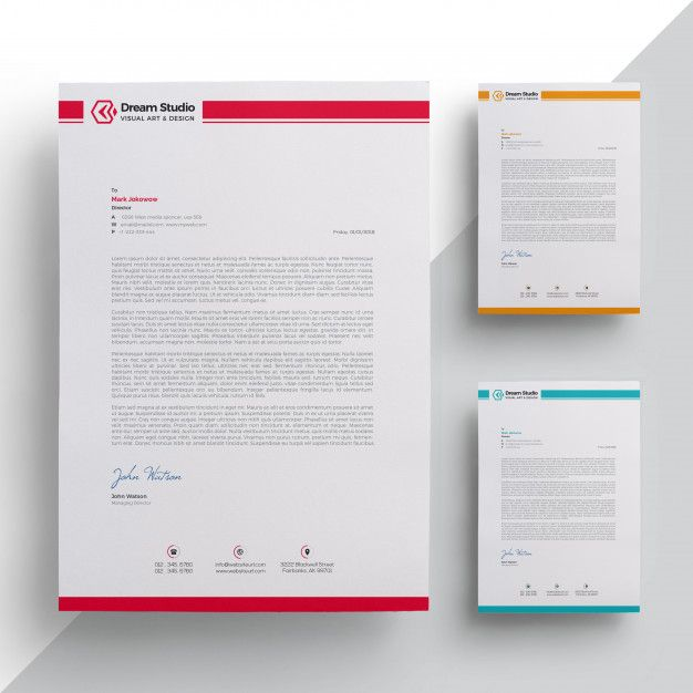 Elegant letterhead template Premium Vector | Letterhead ...