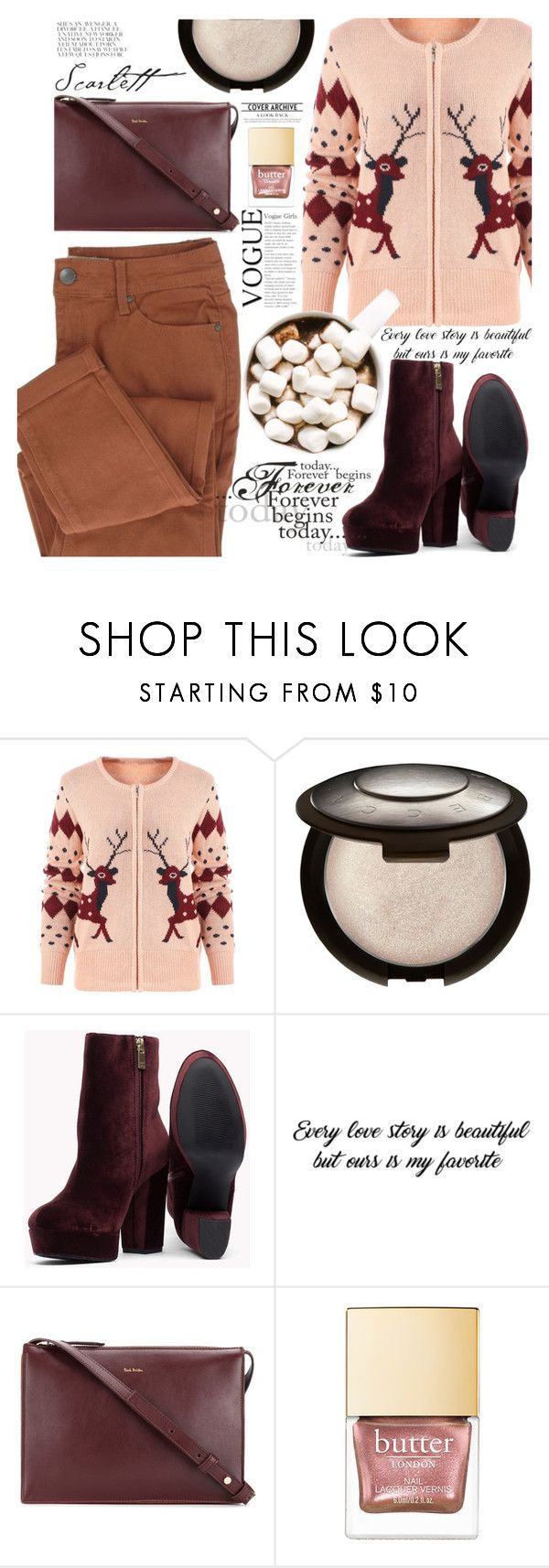 """""""276"""" by erohina-d ❤ liked on Polyvore featuring Paul Smith, Christmas, Pink, gamiss, Christmasitem and Christmasdeer"""