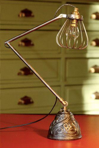 lampe esprit industriel