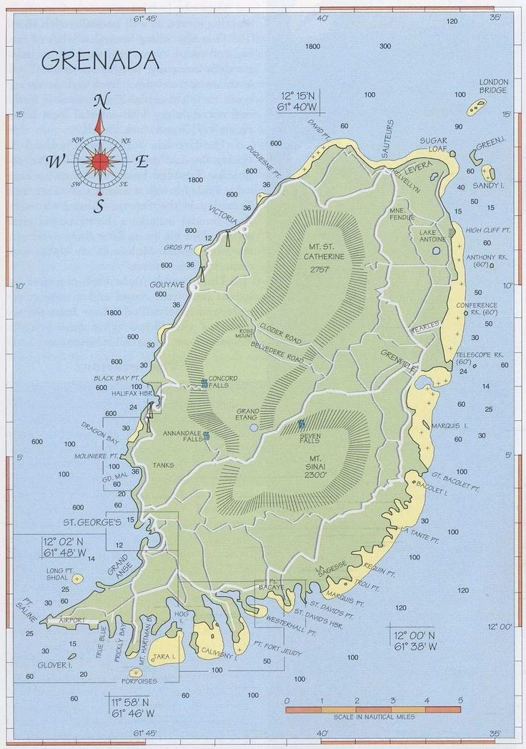 Best Grenada Map Ideas On Pinterest Grenada Caribbean - Map of grenada caribbean islands