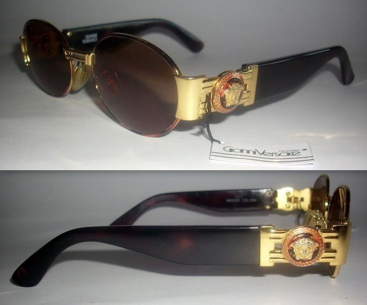 Gianni Versace S71 Mens Sunglasses Miami Art Deco Medusa