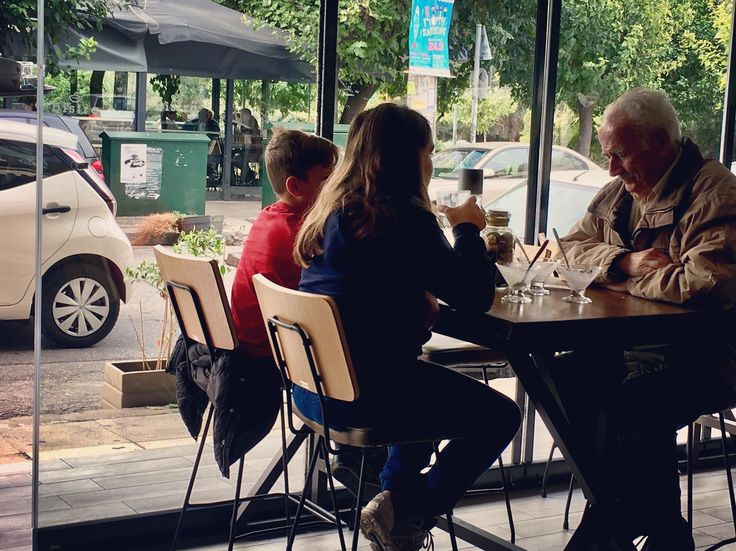 Moments with grandpa...   #Labrini_Athens_bistro_cafe