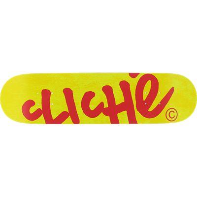 """Cliche Handwritten Red / Yellow Skateboard Deck 7.75"""" x 31.1"""""""