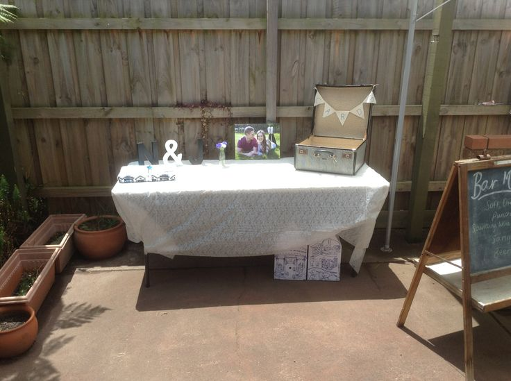 Afternoon Garden Engagement Party Present Table