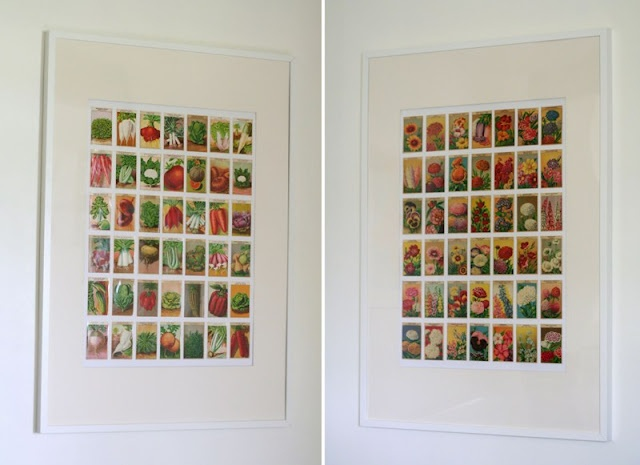 Pacotes de Sementes :: Seed Packets framed as art
