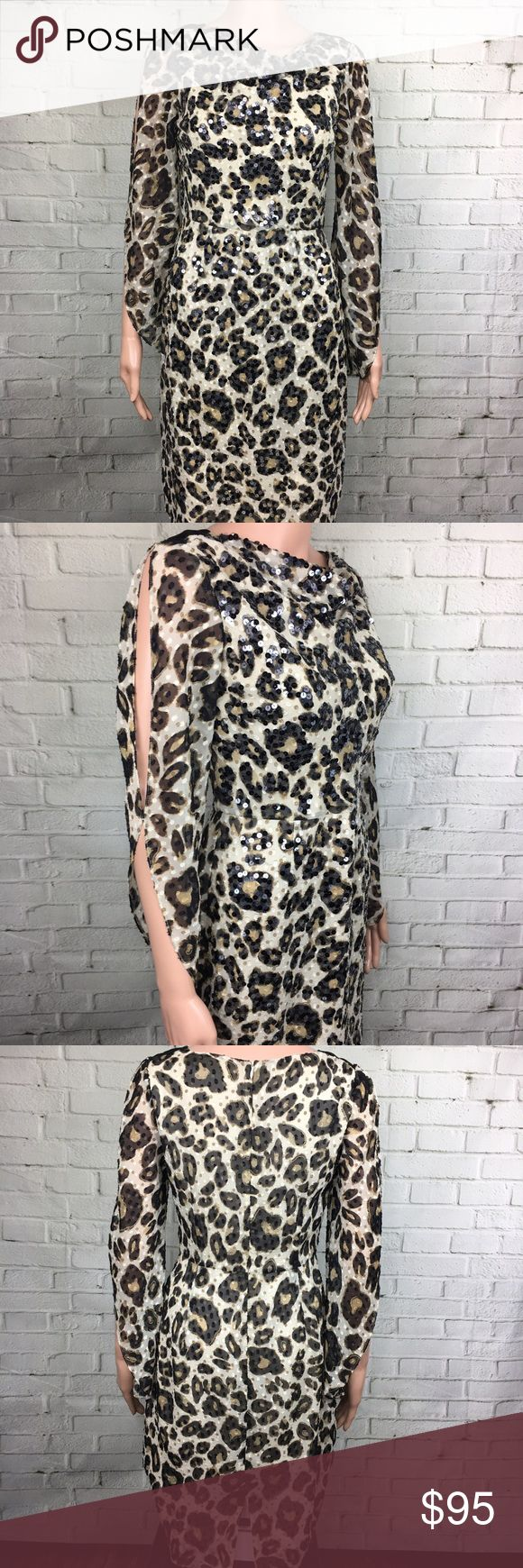 Sequin Animal Print Dress Stunning dress! Perfect for a party! Great condition ANTONIO MELANI Dresses