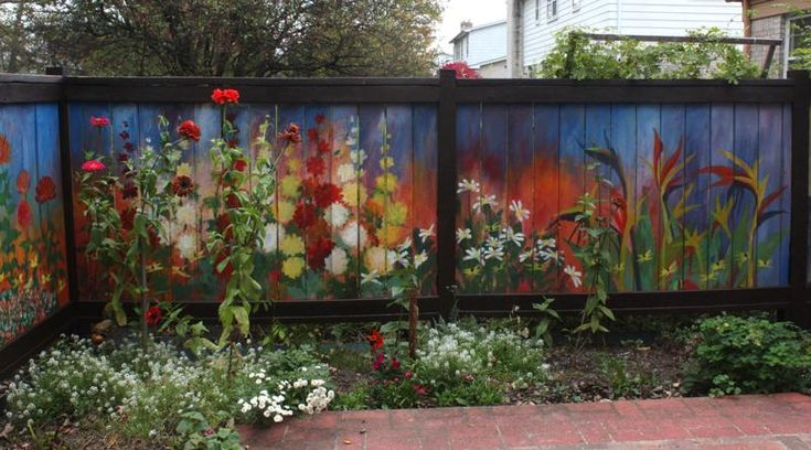 Perpetual Garden painted fence by Boisali Biswas via Jennifer Gould: 10/1/10