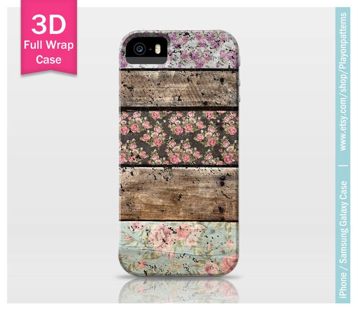 iPhone 6 case iPhone 4s case iPhone 5 case iPhone 5s case iPhone 5c case Samsung Galaxy S4 Samsung Galaxy S5 - rustic floral patterns wood by playonpatterns on Etsy