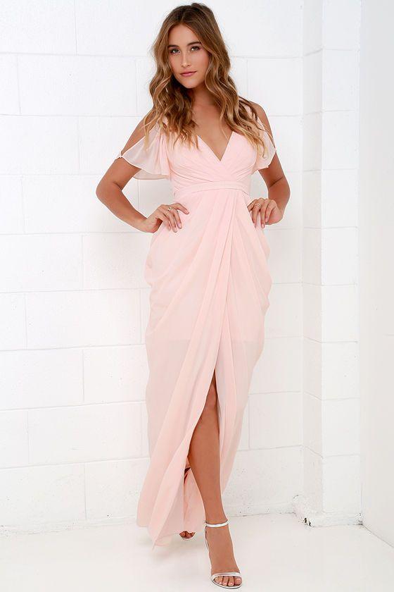 Bariano Graze-ful Dancer Peach Maxi Dress at Lulus.com!
