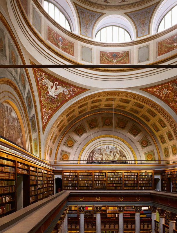 """National Library of Finland. Designed as a library of the University of Helsinki by German architect Carl Ludvig Engel and completed in 1845 after his death. From """"The Library: A World History"""" by James W. P. Campbell with photographs by Will Pryce."""