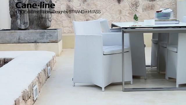 Cane-line  EDGE by Skovdal & Skovdal. Cane-line EDGE dinning table.