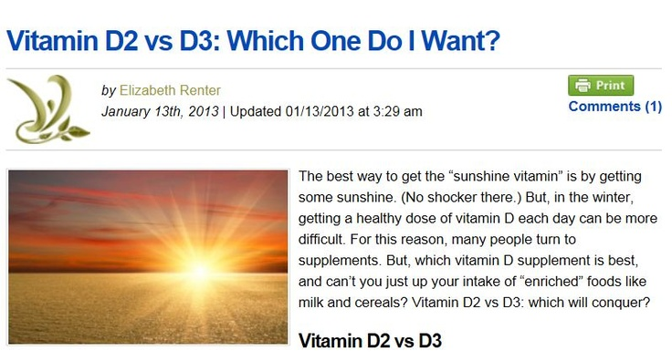 Vitamin D2 vs D3: Which One Do I Want?   (Vitamin D Vs D3)