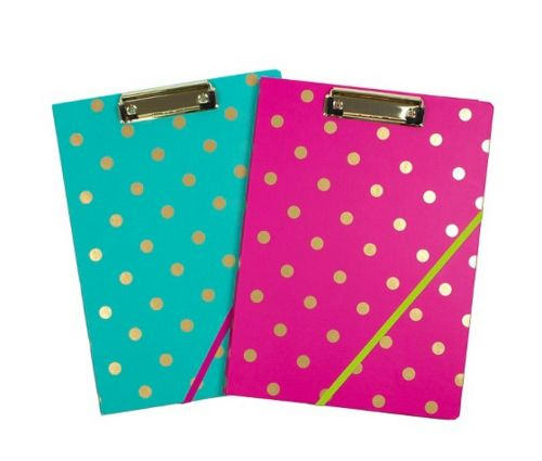 These dotted clip folios. | 17 School Supplies That Prove Organization Can Be Super Cute