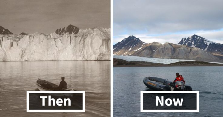 7 Shocking Photos Reveal What 100 Years Of Climate Change Has Done To Arctic Glaciers | Bored Panda