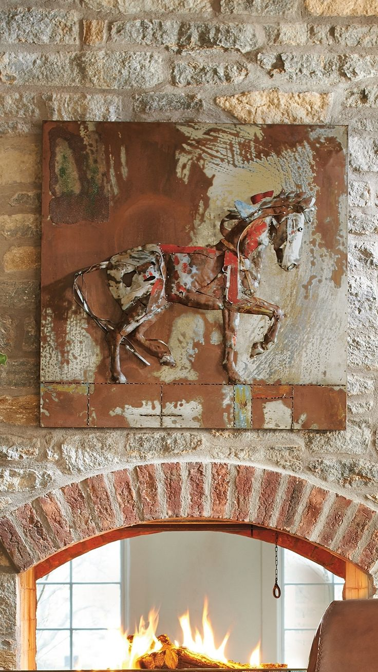 1162 best all for the wall images on pinterest clocks a fascinating confluence of hand painting metalsmithing and applied elements make our metal horse wall amipublicfo Gallery
