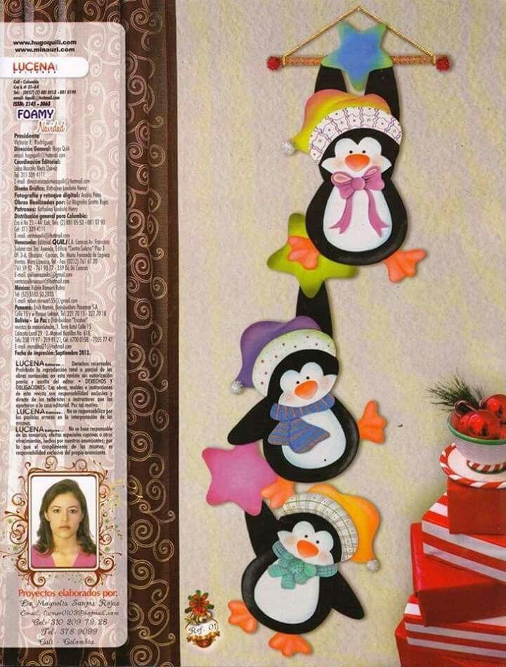 Pinguinos Navideños
