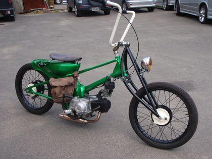 Honda Cub riding in Ireland 2012