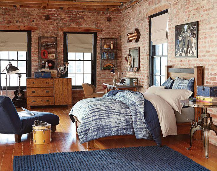 Teenage Guys Bedroom Ideas | Industrial Style | PBteen