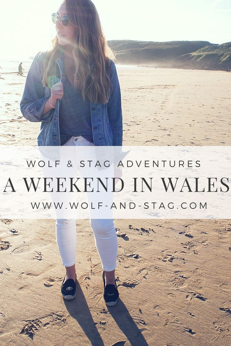 A Weekend in Wales | Featuring Atterley white jeans, Soludos espadrilles, Levis denim jacket, Madewell tee and Ray-Ban sunnies | Wolf & Stag