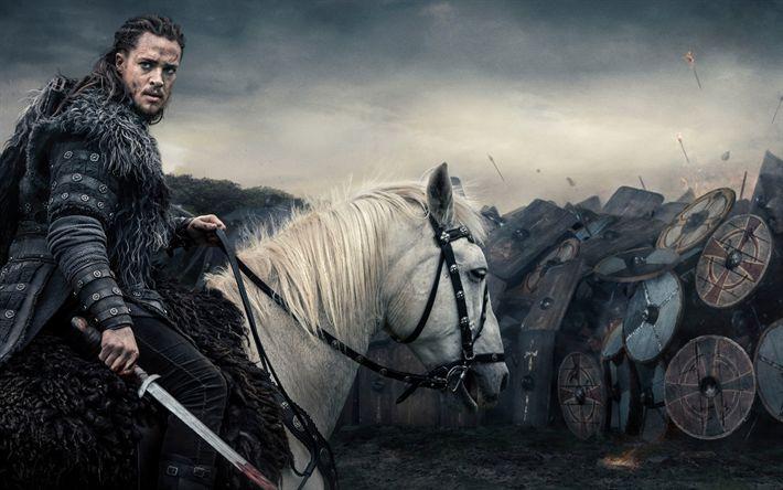 Descargar fondos de pantalla El Último Reino de 2017, temporada 2, los Vikingos, Ragnar Lodbrok, Alexander Dreymon, British serie histórica