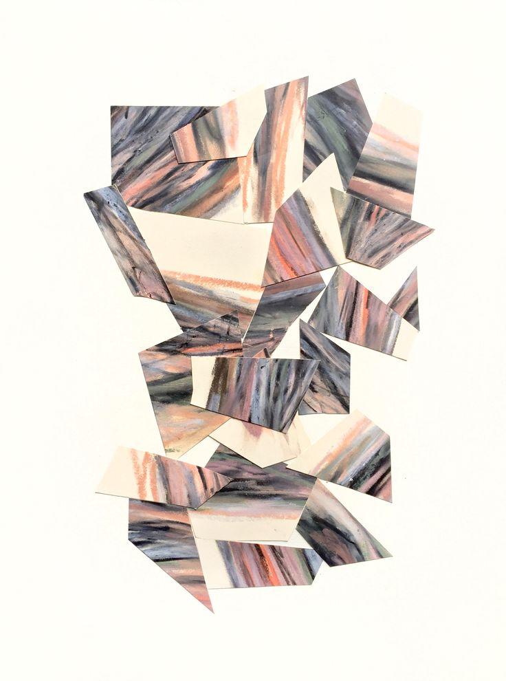 "Collage II Pastels on stonehenge paper 12"" x 16"""