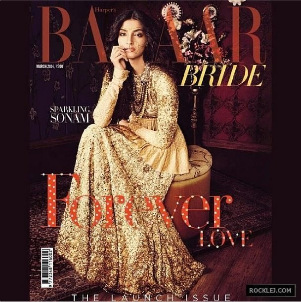Gorgeous Hot Photoshoot of Sonam Kapoor for Harper's Bazaar India March 2014
