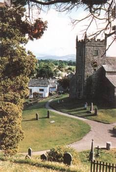 The lovely village of Hawkshead, in the Lake District,  UK.  The parish church sits on the site of a Viking Temple