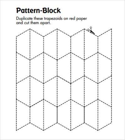 blank pattern block templates -   Hexagon ideas   Pinterest ...