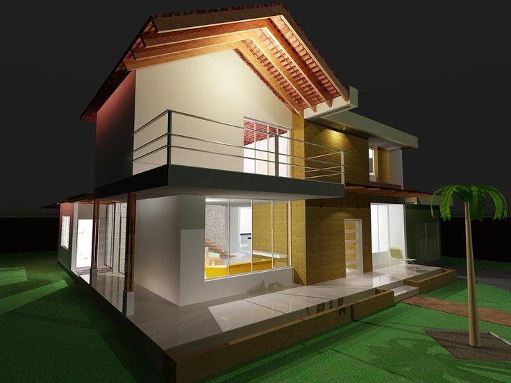 Diseños arquitectónicos y estructurales para la construcción de casa campestre en dos pisos en un lote de terreno de 25 x 35 M, en el Municipio de Acacias, Meta. El primer piso consta de: sala, comedor, cocina amplia, baño social, estudio...