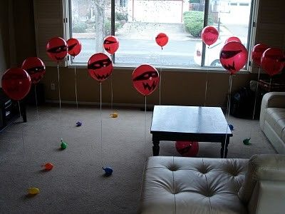 Balloon ninjas to shoot with nerf guns. *SERIOUSLY!!! This is a fantastic idea!! Great for boys!!! - Click image to find more Holidays  Events Pinterest pins
