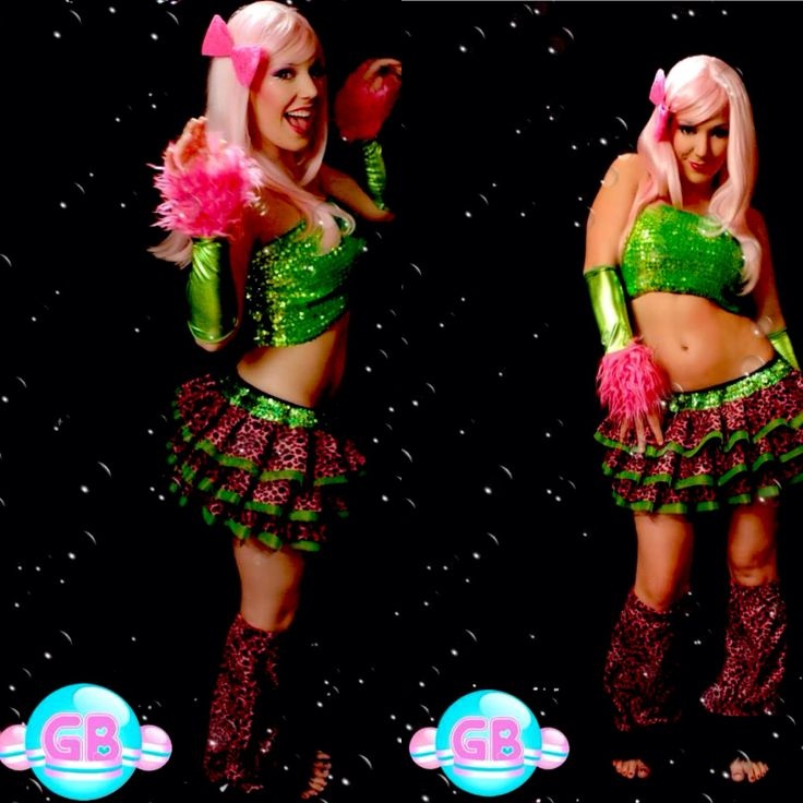 Custom Clubwear by Glitter Bubbles *GB tutu *GB fluffies  *GB sparkle bandeau top *GB gauntlets