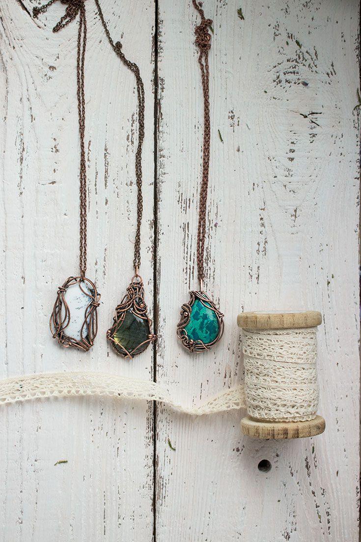117 mejores imgenes de my wire wrapped jewelry en pinterest wire wrapped fashion jewelry pendants necklaces gemstone pendants copper pendants copper aloadofball Choice Image