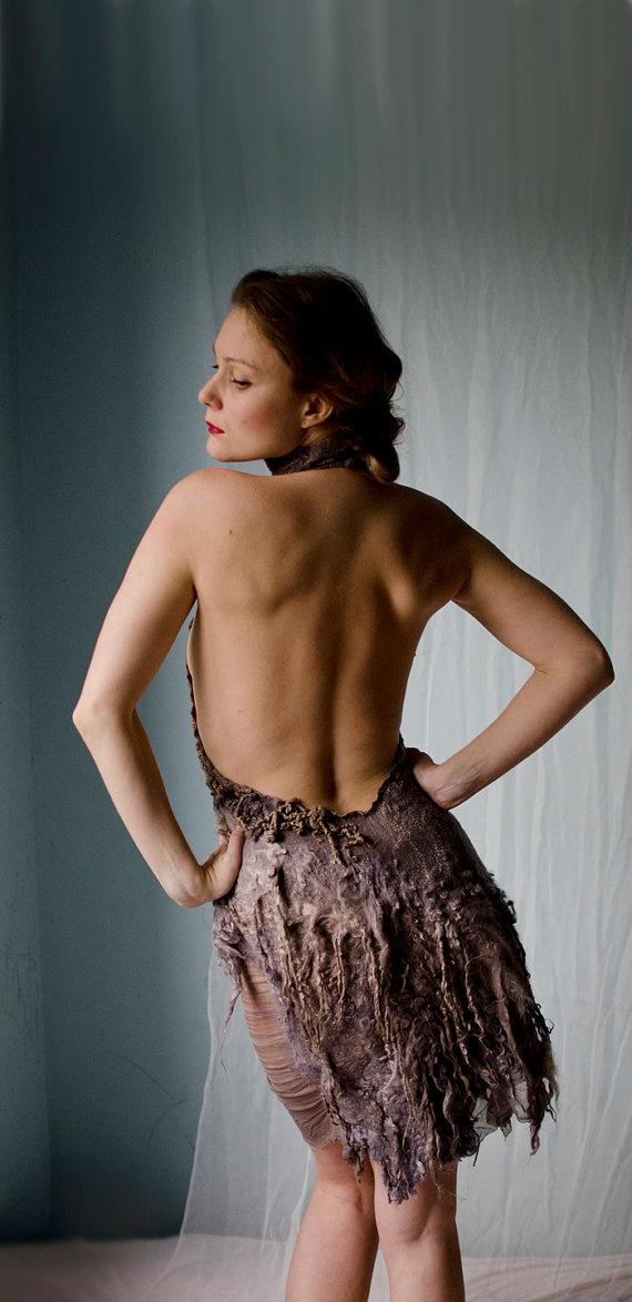 eco fashion nuno felt dress by vilte