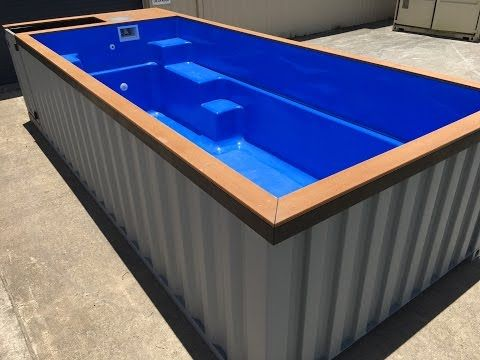 shipping container pool 6m version youtube finding home pinterest pools shipping. Black Bedroom Furniture Sets. Home Design Ideas