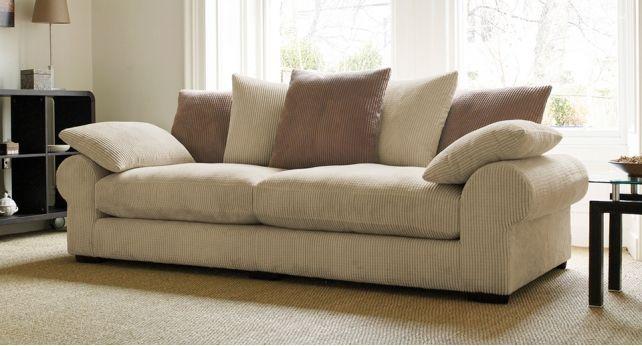 Strand 3 Seater Sofa Scatter Back Nice Look Fabric Sofa Brown Sectional Sofa Sofa