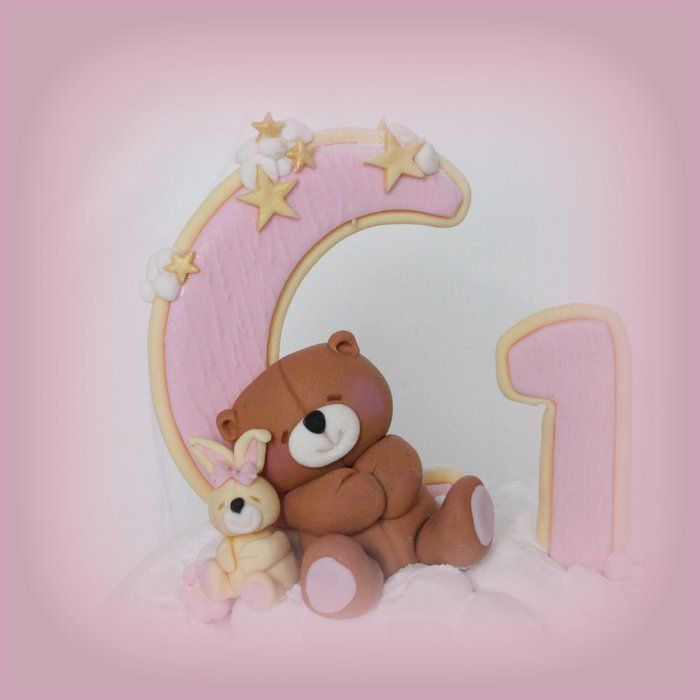 Birthday Cakes   Made this for a baby girl s first birthday  The little  bears were so easy and quick to make  The Forever Friends Bear was about  high and  84 best Bears cake images on Pinterest   Teddy bear cakes  Baby  . Easy First Birthday Cake Girl. Home Design Ideas