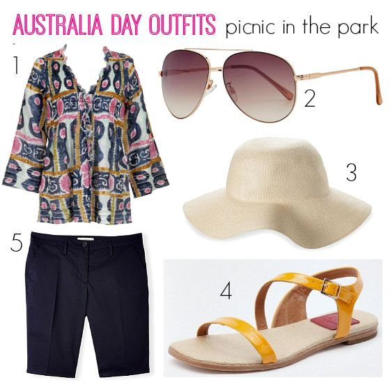 3 Australia Day outfits that don't feature denim underpants / Picnic in the park