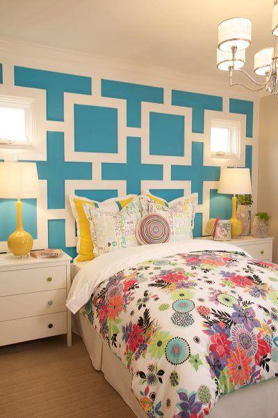 Teen girl's bedroom at Arista by Davidson Communities. Interior Design by Design Line Interiors