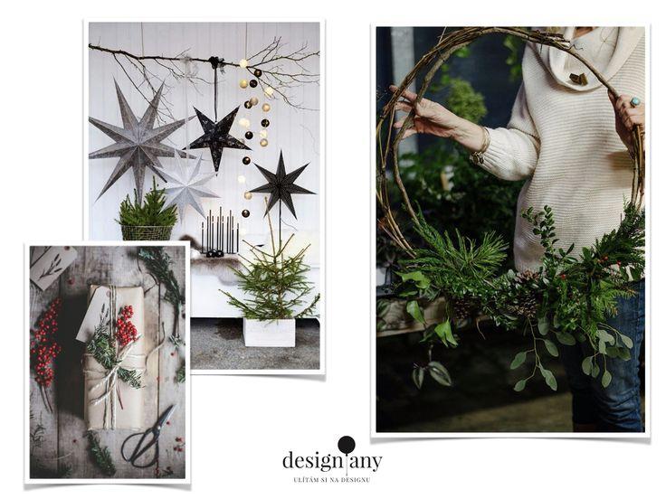 vánoční dekorace, vánoční tématika, vánoční inspirace, vánoce 2017, vánoční ozdoby, vánoční věnec, adventní věnec, skandinávské vánoční dekorace