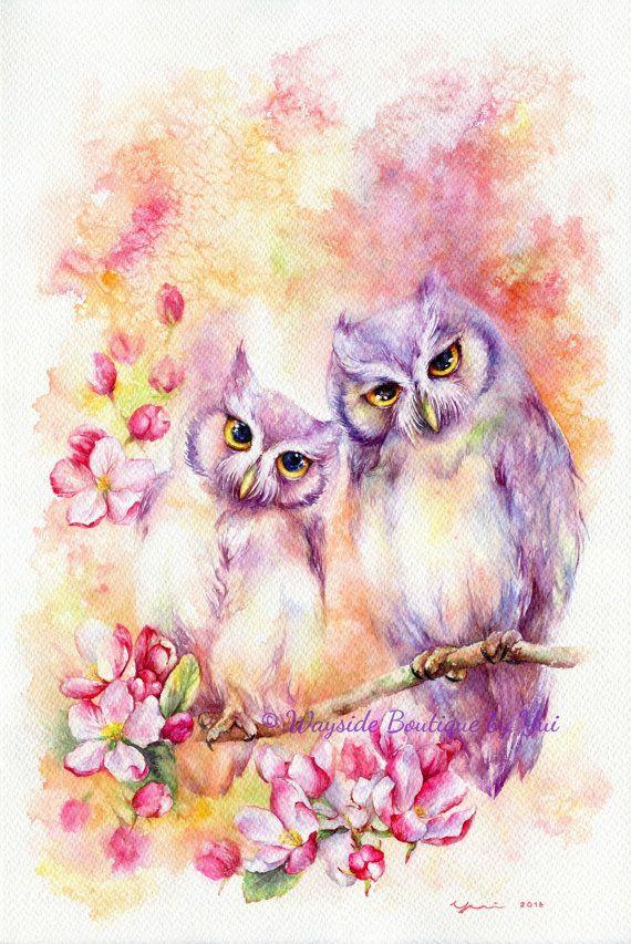 Love is in bloom ORIGINAL watercolor painting от WaysideBoutique