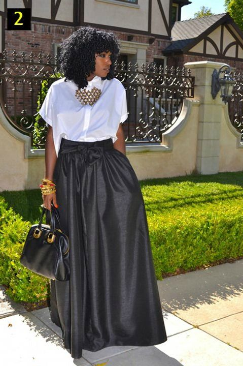 Formal Maxi Skirt | Fashion(street Couture High Casual Businessu2026