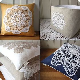 boho pillow diy doily crafts