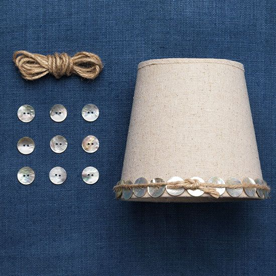 Button lampshade, Country Homes and Interiors blog