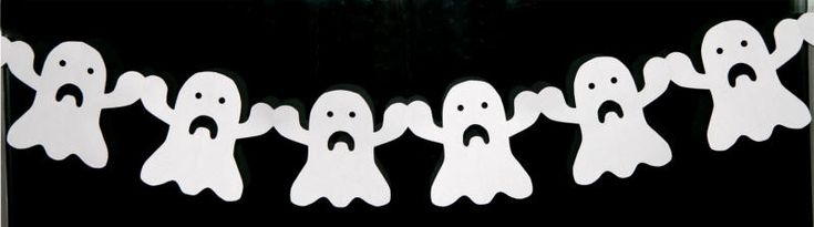 ghost paper chain...also templates for bats, skulls, and spiders