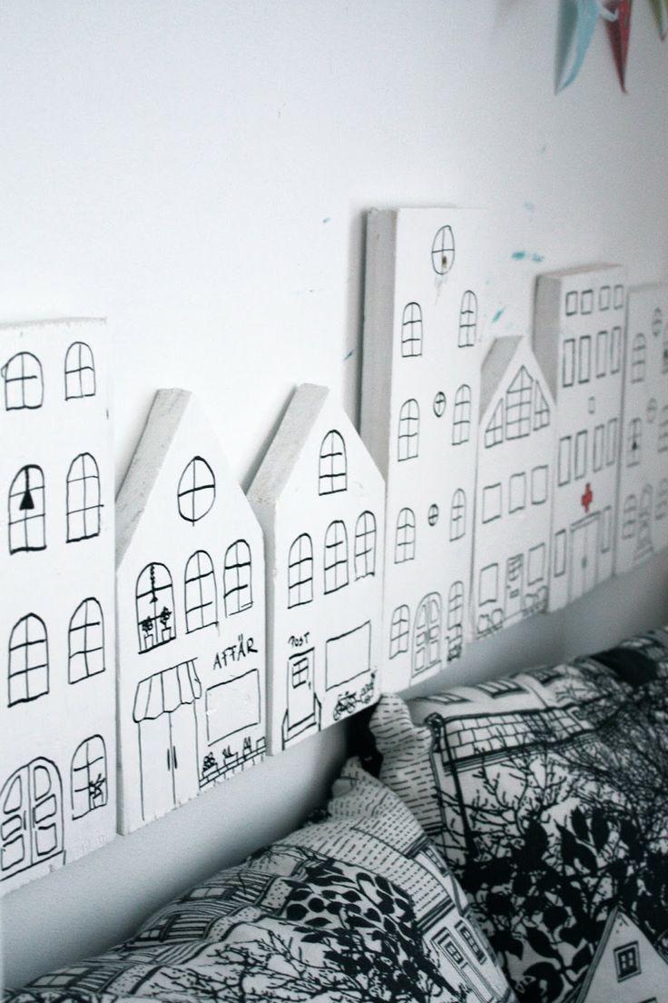 Huisjes lang de wand...