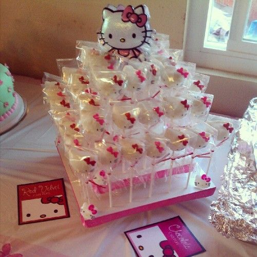 Square Hello Kitty Cake Pop Stand Display: http://www.thesmartbaker.com/products/3-Tier-Square-Cake-Pop-Stand.html