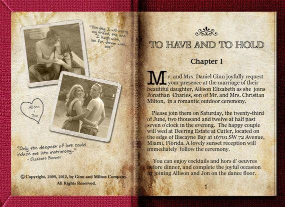Storybook Wedding Invitation: Best 25+ Book Wedding Invitations Ideas On Pinterest